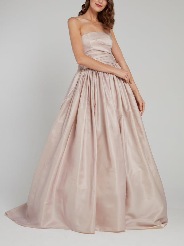 Rose Strapless Ruched Bridal Gown