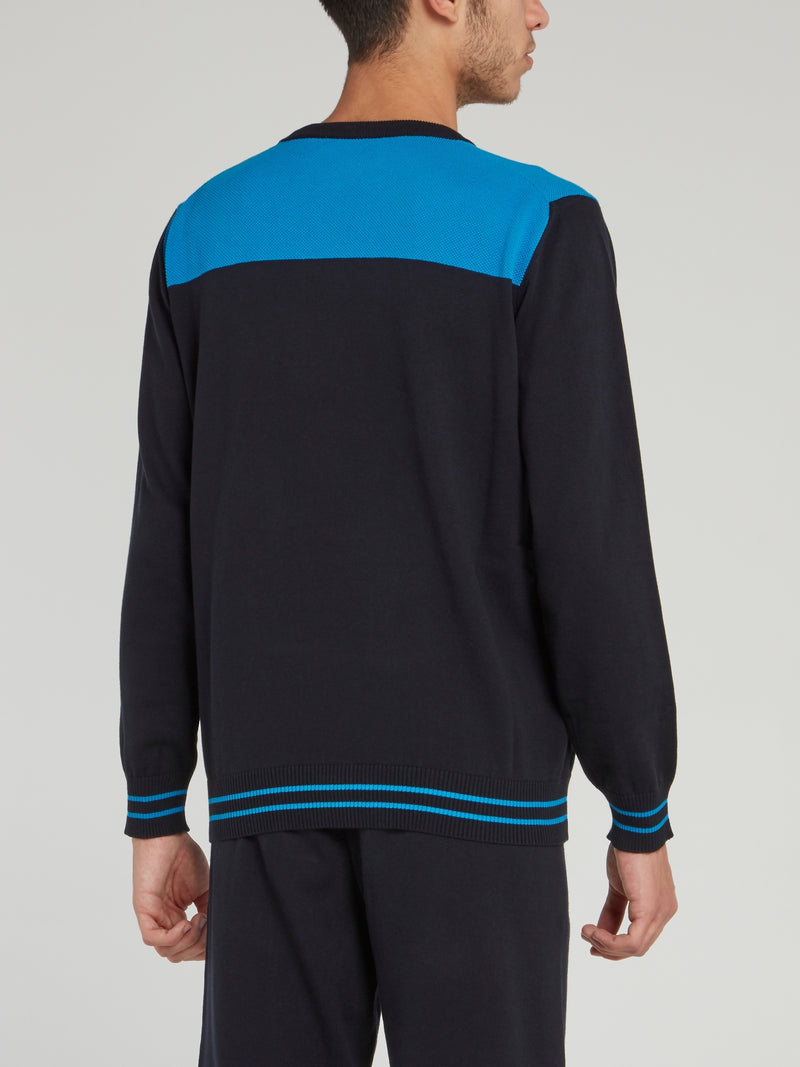 Blue Logo Knitted Jumper