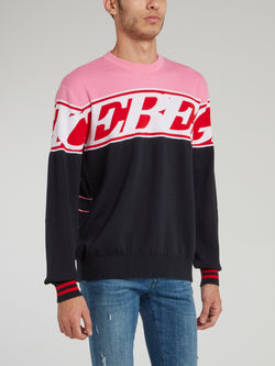 Pink Panther Logo Knitted Jumper