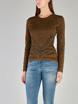 Glittered Animal Effect Pullover