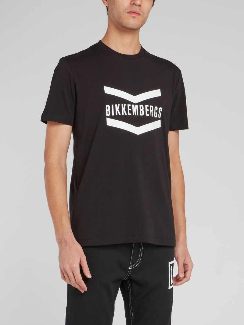 Black Straight Fit Logo T-Shirt