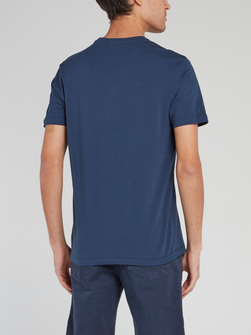 Navy Straight Fit Logo T-Shirt