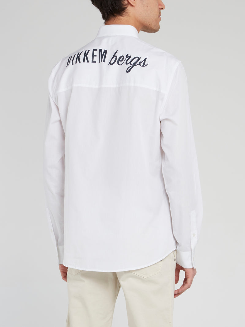White Back Logo Long Sleeve Shirt