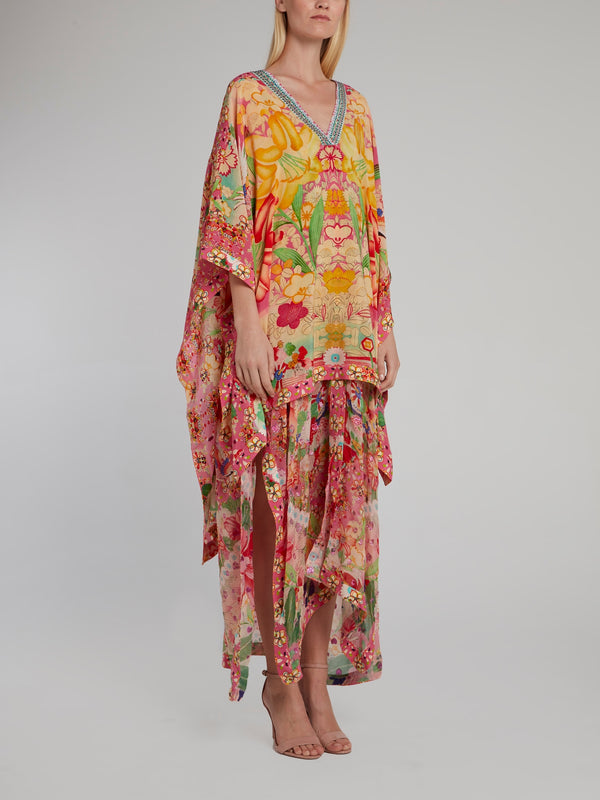 High Low Hem V-Neck Kaftan