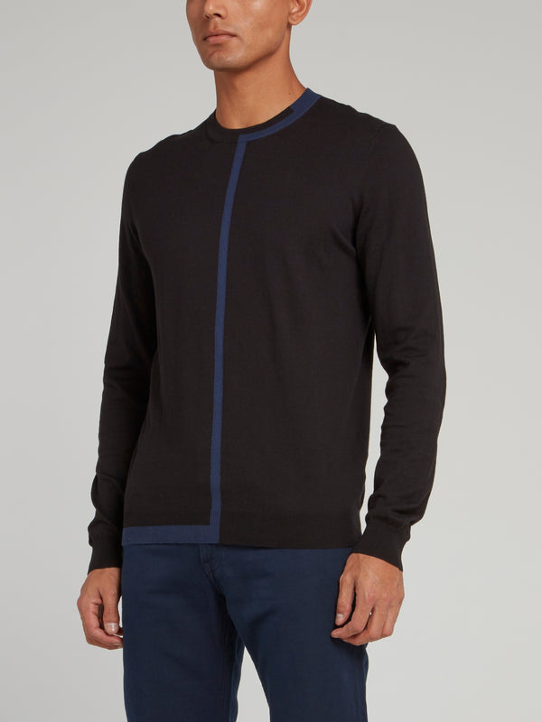 Black with Blue Lining Sweatshirt