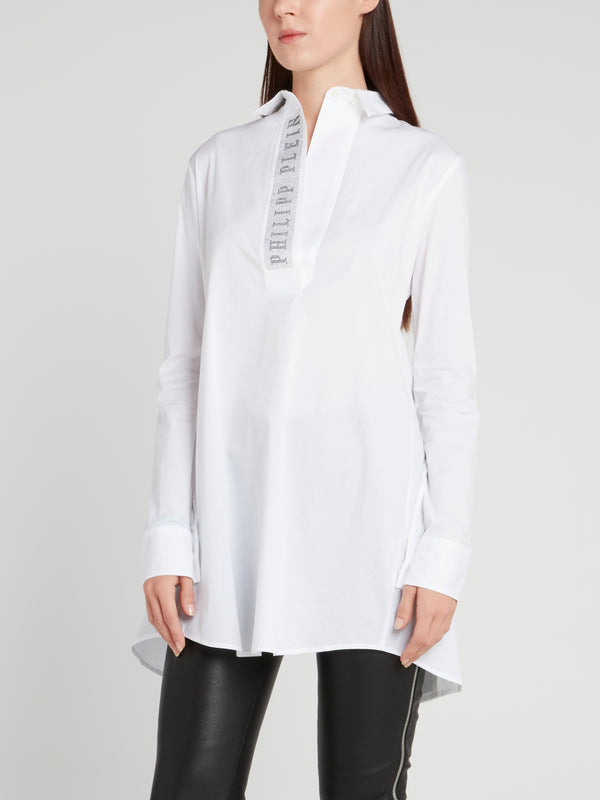 Dana Logo Back Slit Shirt