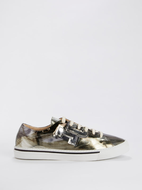 Metallic Patent Leather Sneakers
