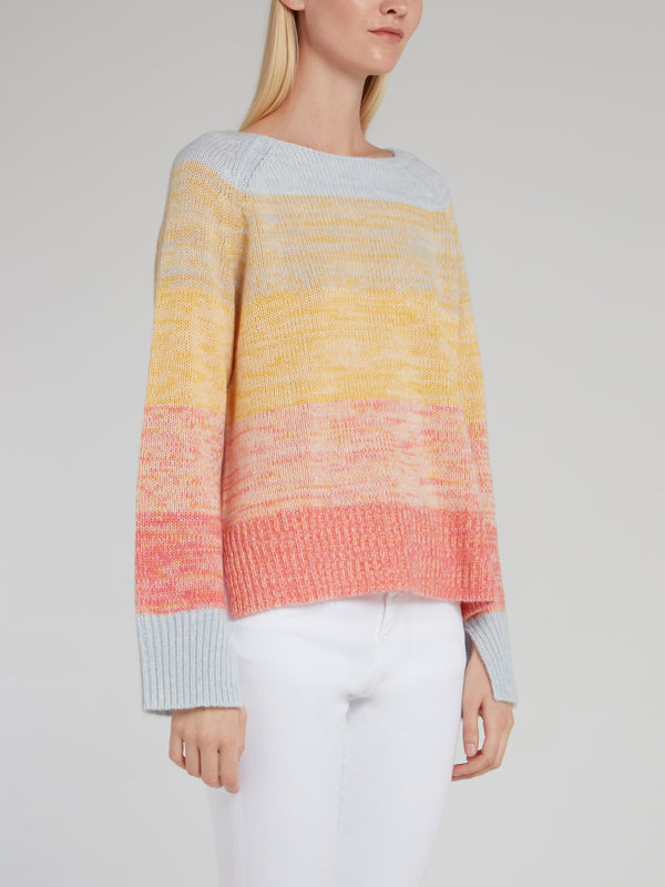 Rainbow Ribbed Pullover