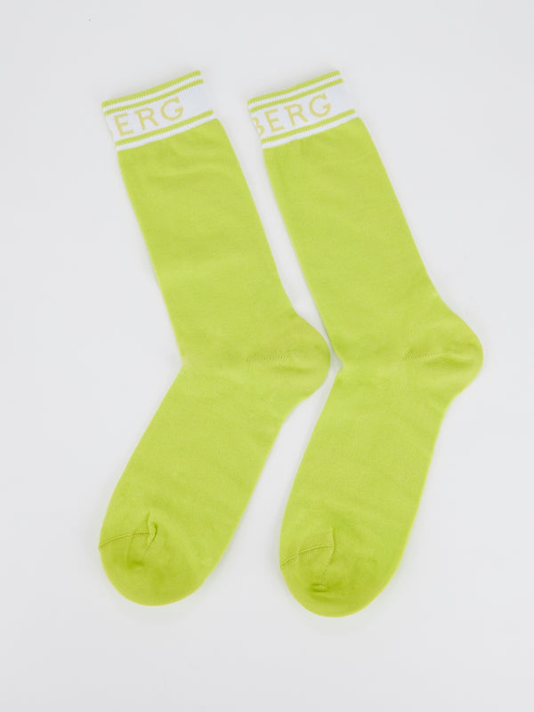 Green Logo High Socks
