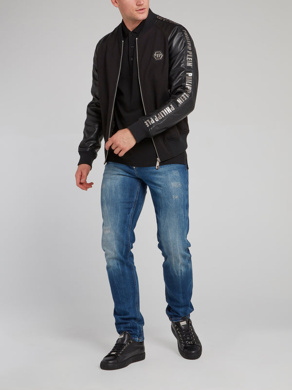 Rear Studded Skull Bomber Jacket