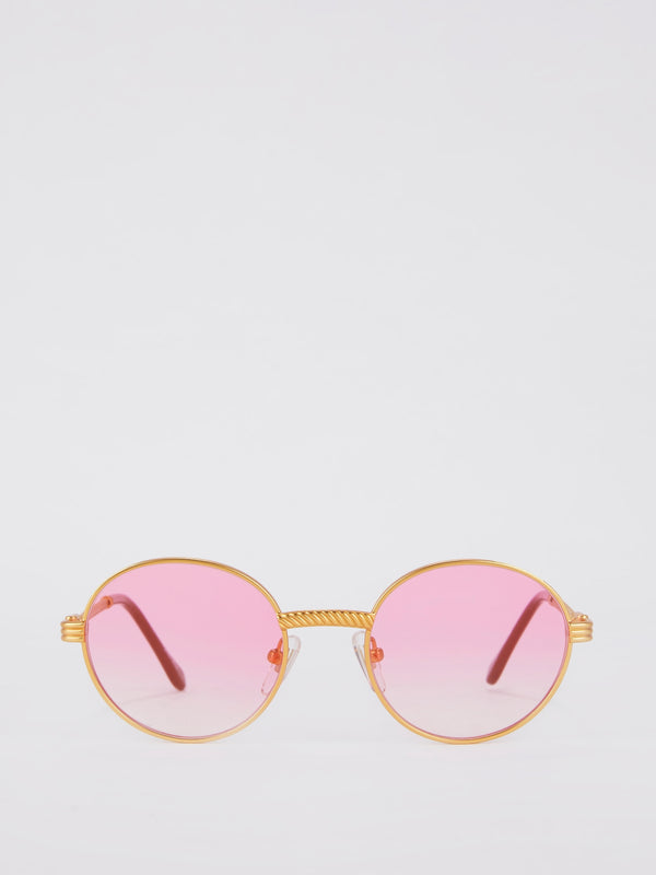 Pink Gradient Round Sunglasses