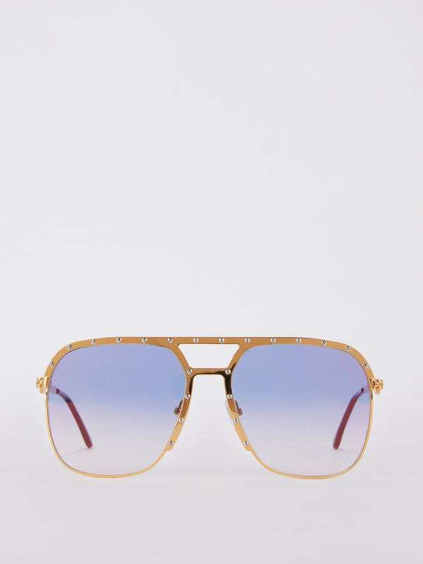 Royal Blue Two Tone Multi Flash Sunglasses