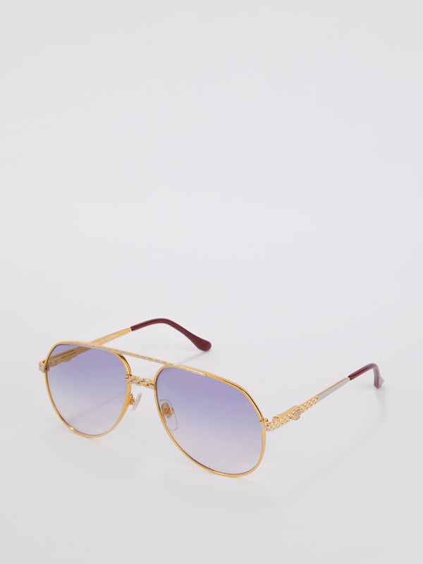 VF 369 Two Tone Gold with Royal Blue Gradient Sunglasses