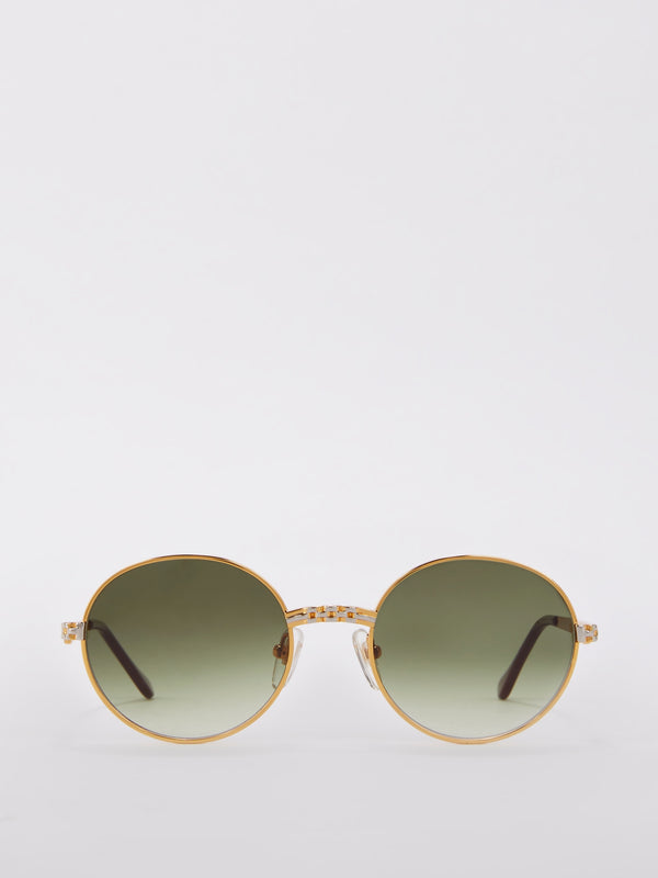 VF 85 Moss Green Gradient Sunglasses