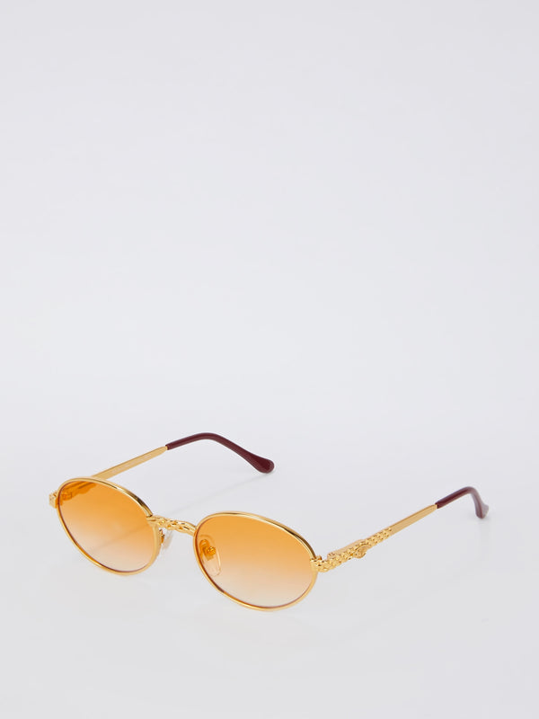 Orange Gradient Round Sunglasses