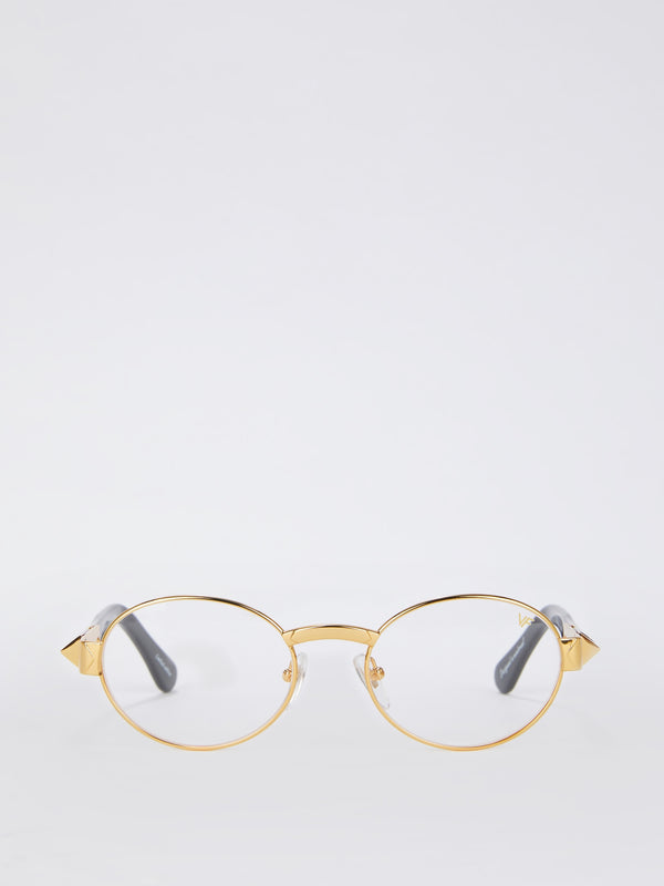 The Biz Masterpiece 24KT Gold Signature Edition Clear Sunglasses