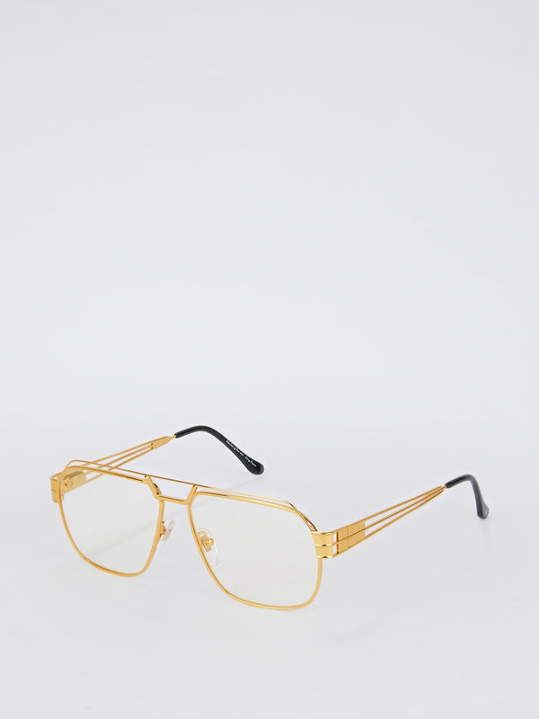 VF 342 Gold with Clear Lens Sunglasses