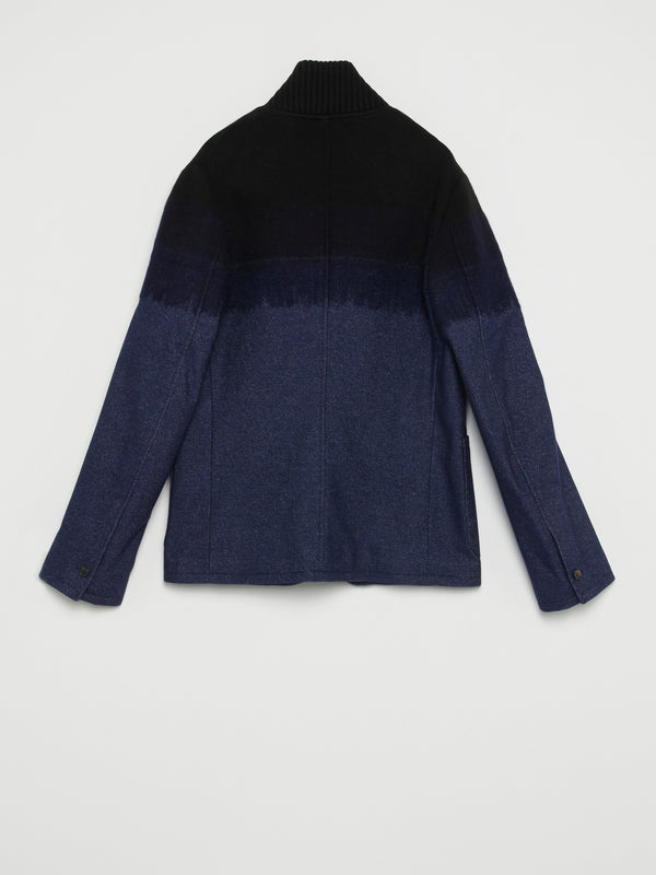 Knitted Panel Denim Jacket