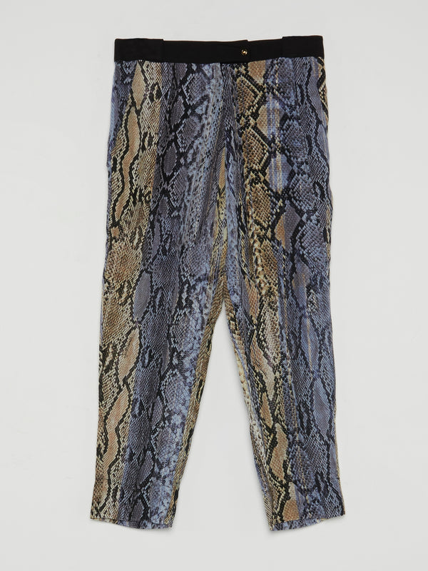 Purple Snake Print Trousers