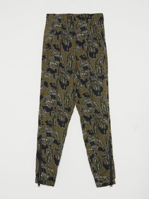 Olive Tiger Print Trousers
