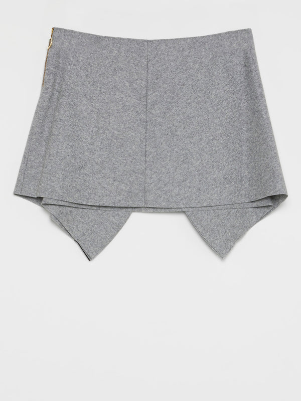 Grey Side Zip Skirt