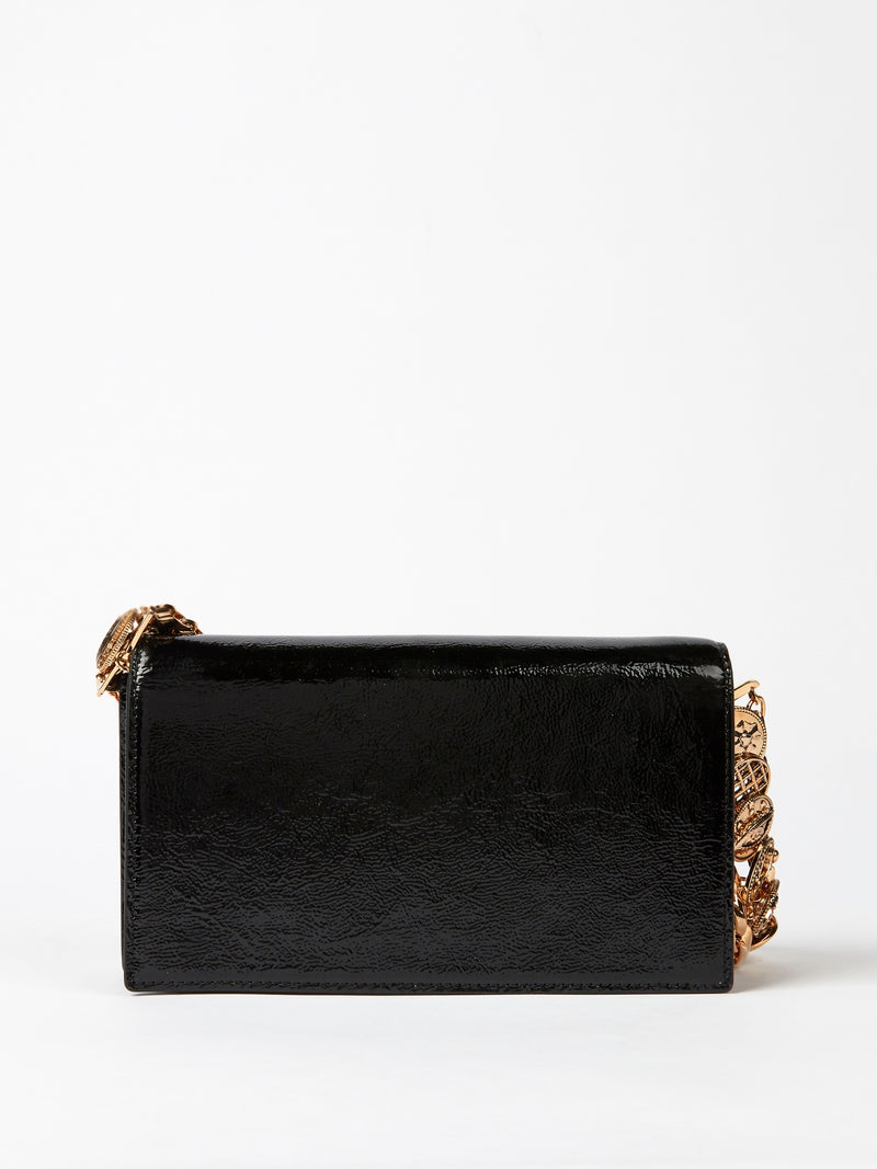 Black Vernice Clutch Bag