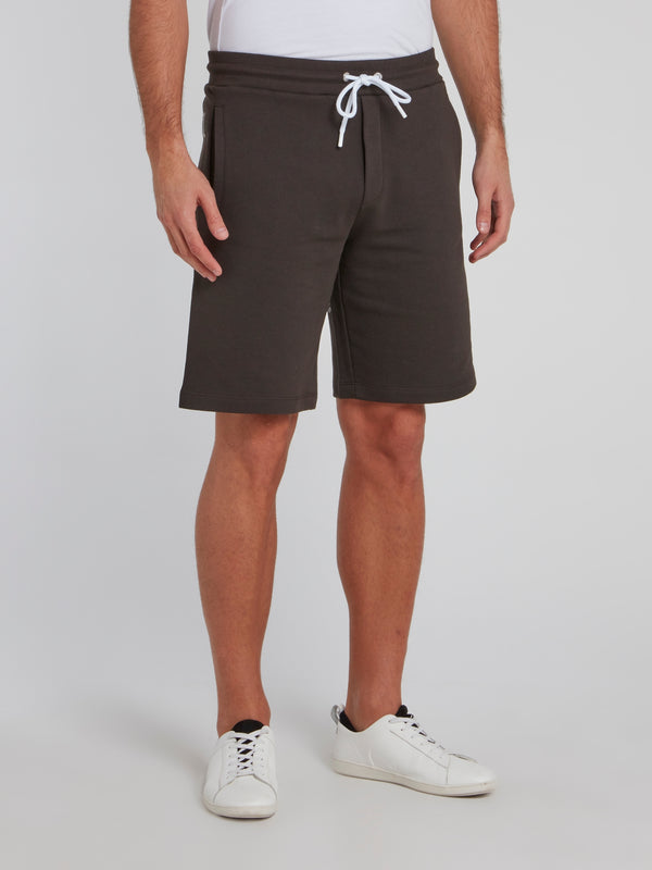 Dark Grey Statement Active Shorts