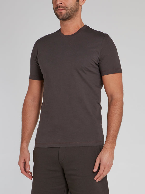 Dark Grey Rear Logo Jersey T-Shirt