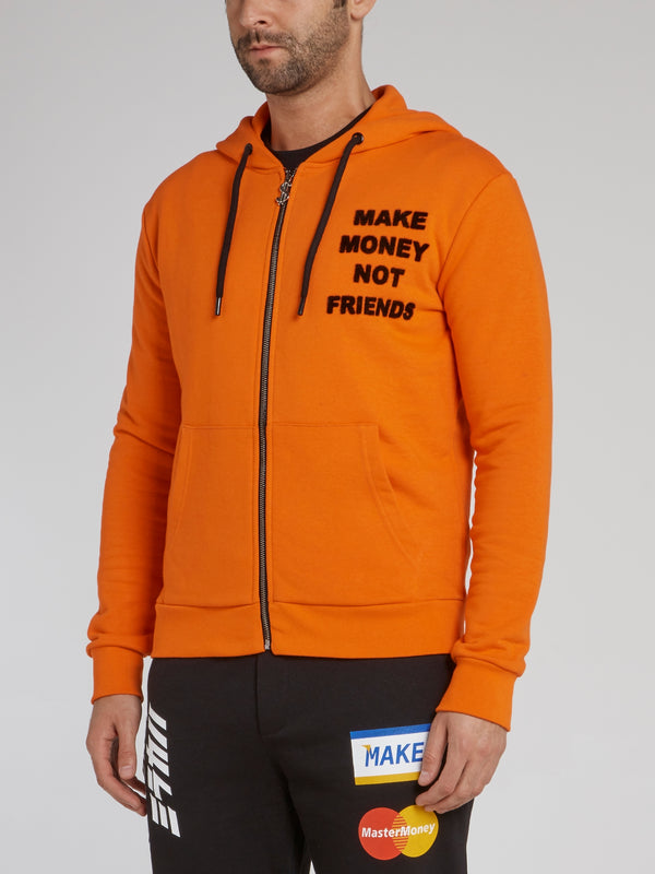 Orange Logo Appliquéd Sweatshirt