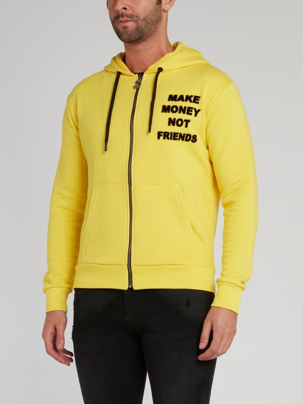 Yellow Logo Appliquéd Sweatshirt