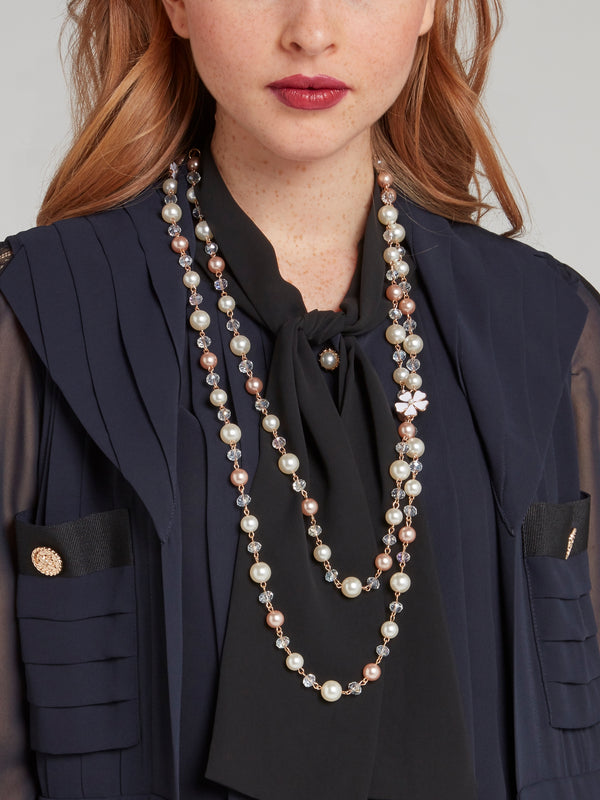 Multi-Chain Pearl Necklace
