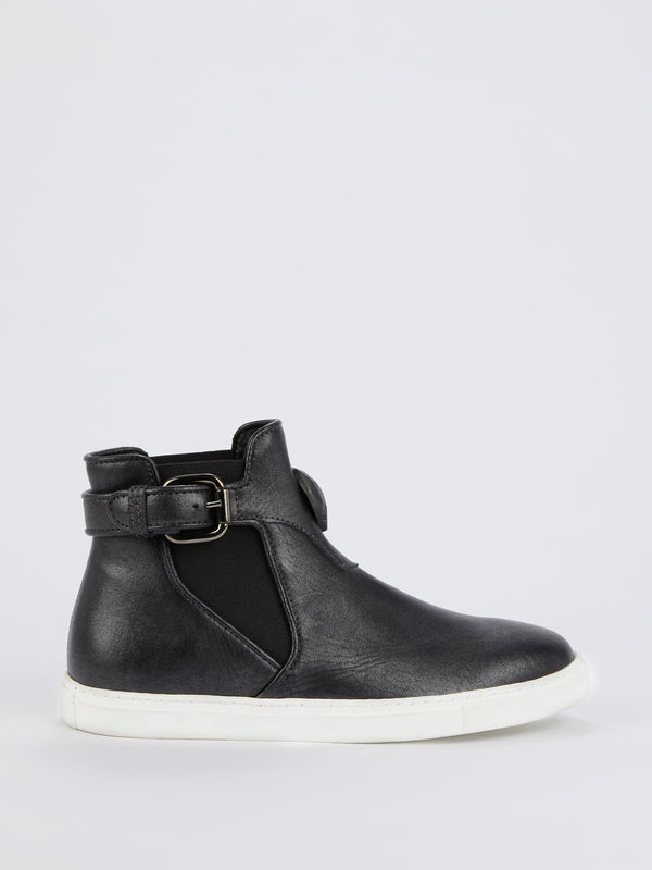 Black Belted High Top Sneakers