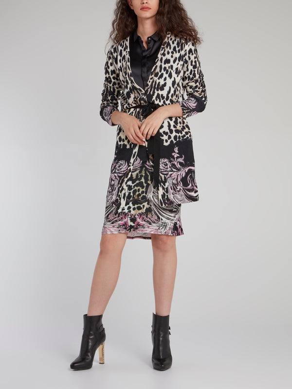 Leopard-Baroque Pencil Skirt