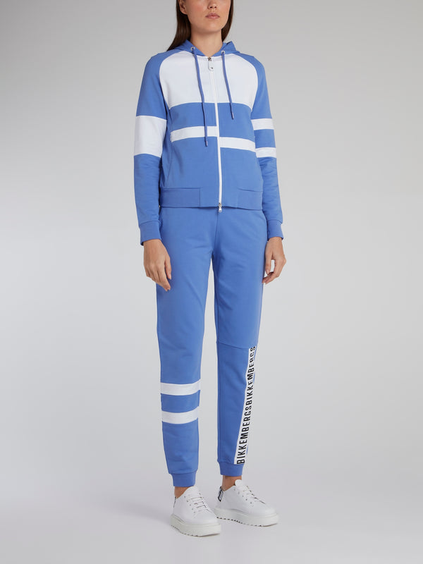 Blue Stripe Panel Active Suit