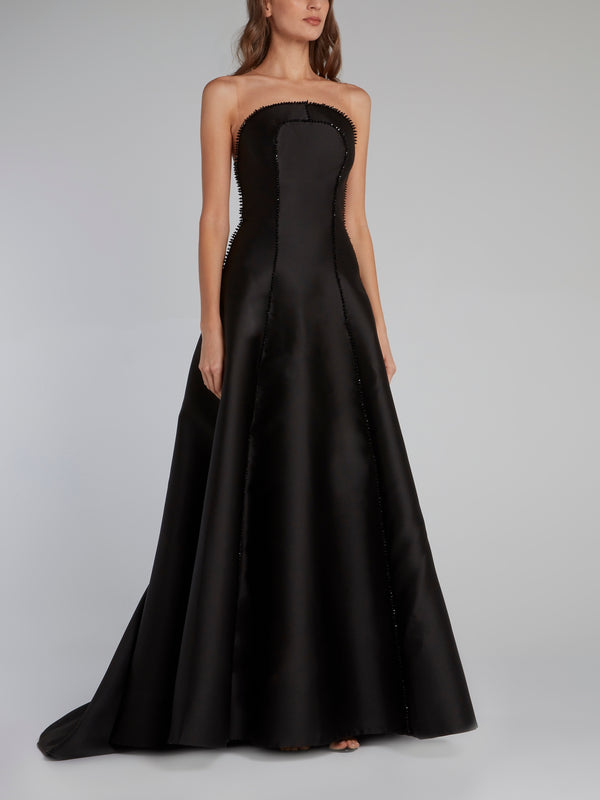 Kill Black Illusion Neckline Maxi Dress