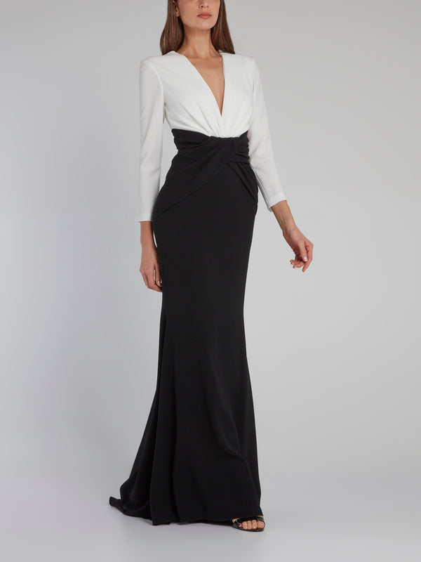 Bethania Contrast Bodice Maxi Dress