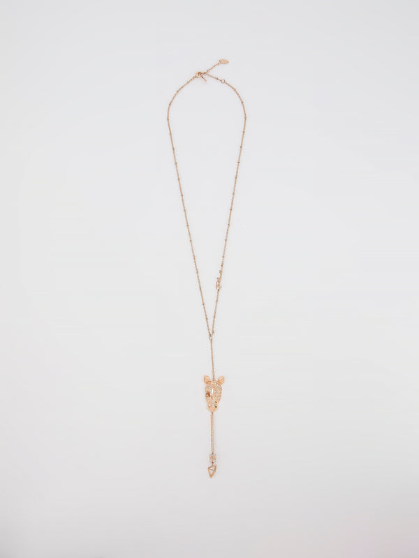 Gold Crystal Studded Cavalli Necklace