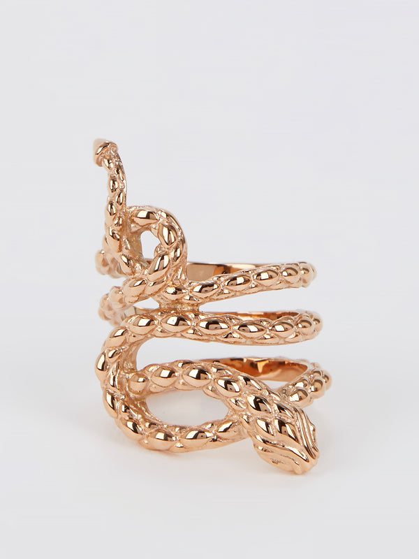 Gold Snake Ring - Size 6