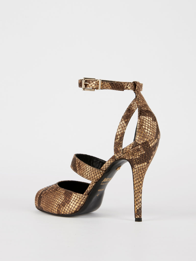 Python Effect Ankle Strap Sandals