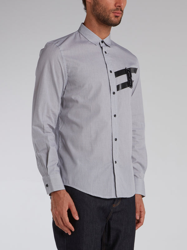 Grey Monogram Appliquéd Shirt