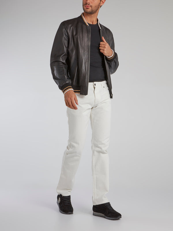 White Denim Tunnel Trousers