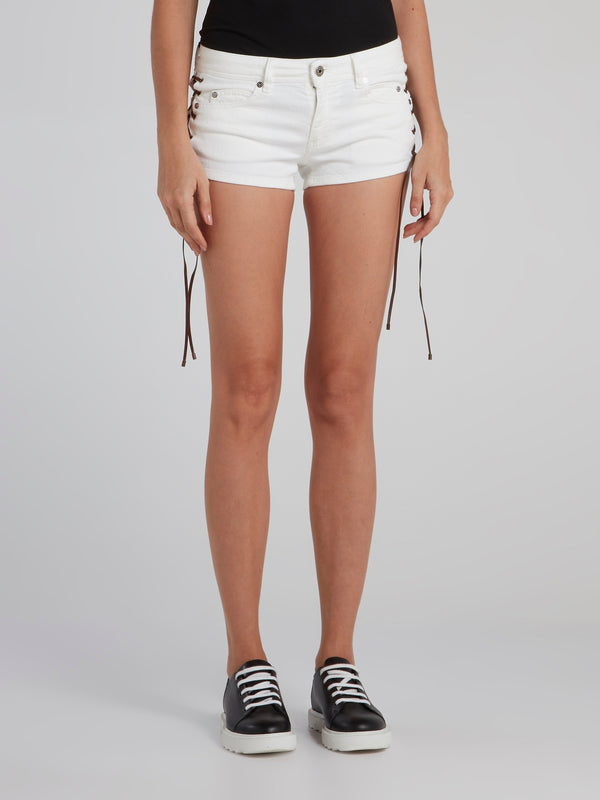 White Side Lace Shorts