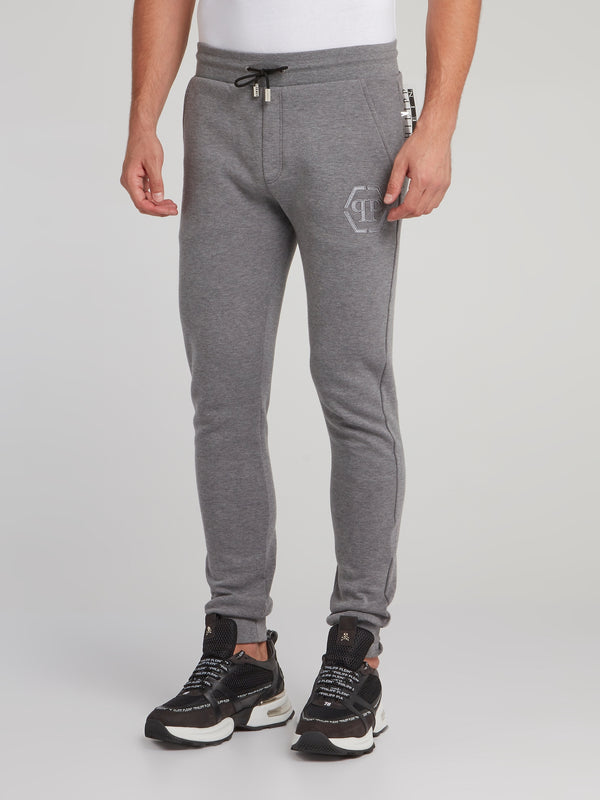 Grey Monogram Jogging Trousers