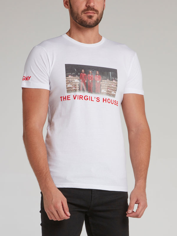 The Virgil's House White Printed T-Shirt