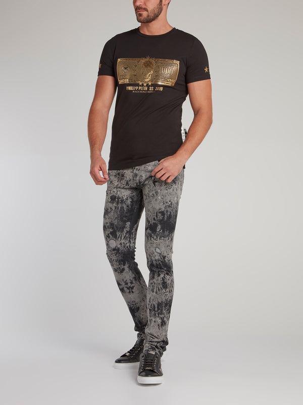 Dollar Distressed Slim Fit Jeans