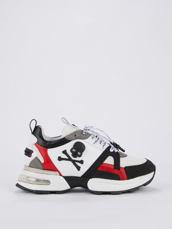 Colour Block Logo Lace Skull Runners