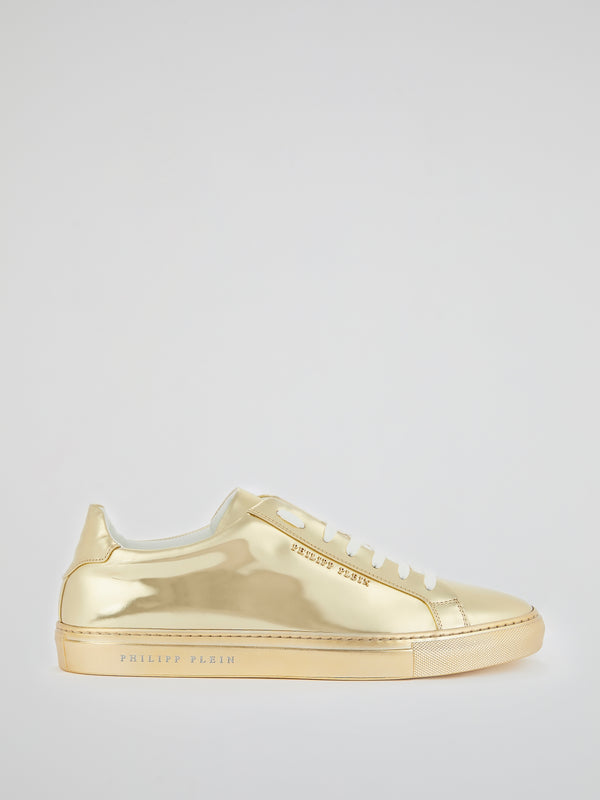 Gold Statement Low Top Sneakers