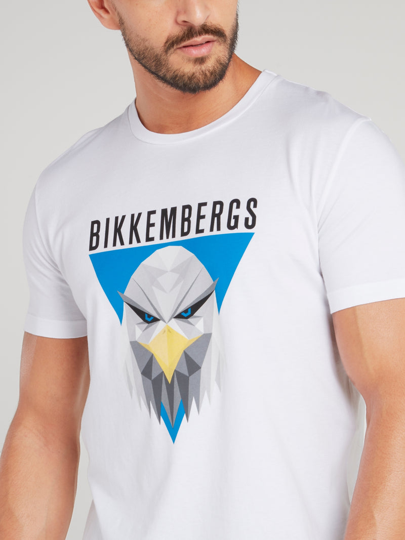 White Eagle Print T-Shirt