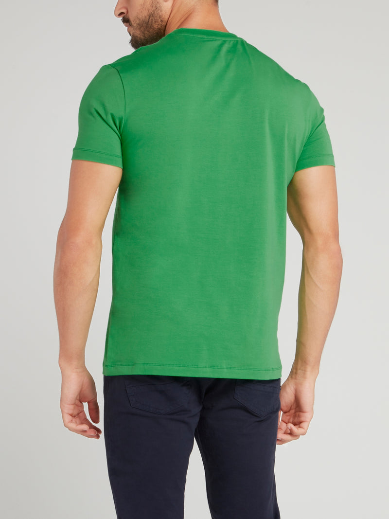 Green Logo Crewneck T-Shirt