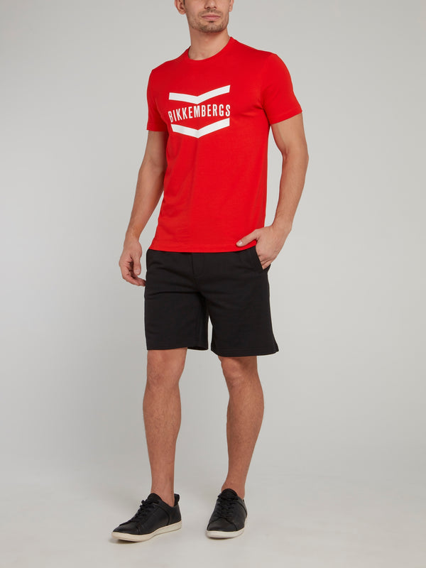 Red Logo Chevron T-Shirt